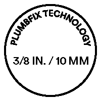 Up to 3/8 in. / 10 mm PlumbFix Technology